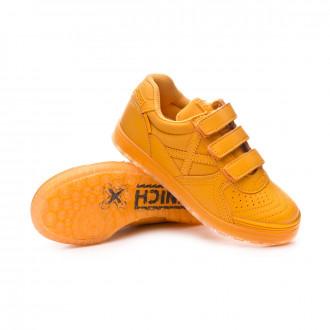 Sapatilha de Futsal  Munich G3 Monochrome Velcro Niño Ocre
