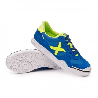 Futsal Boot  Munich Gresca Blue-Lime