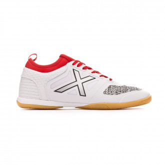 Futsal Boot  Munich Tiga Indoor White-Red