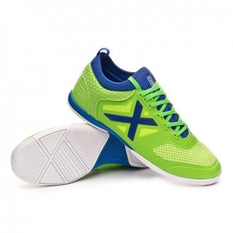 Chaussure de futsal  Munich Tiga Indoor Verde flúor-Bleu