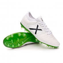 Football Boots Tiga Leather Soccer White-Navy blue
