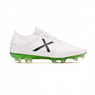 Chaussure de foot  Munich Tiga Leather Soccer Blanc-Bleu marine