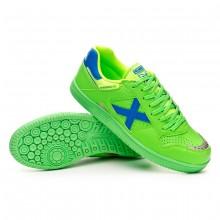 Sapatilha de Futsal Continental V2 Verde flúor-Azul