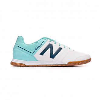 495613446 Futsal Boot New Balance Audazo Strike 3.0 Futsal White-Light blue
