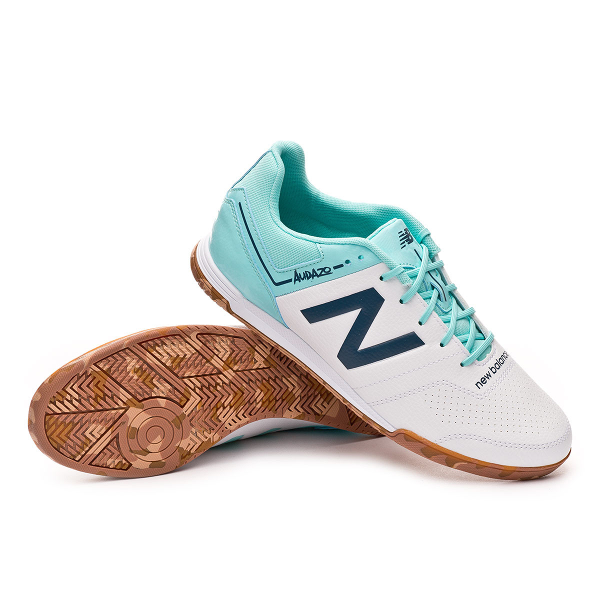 Zapatilla Audazo Strike 3.0 Futsal White Light blue
