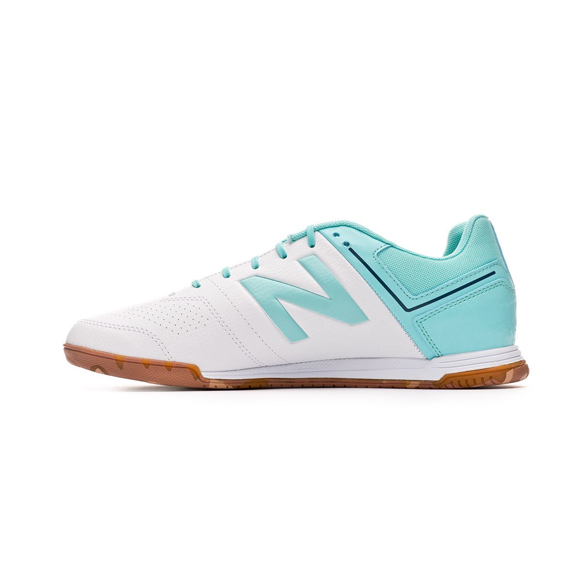 7381a575d Futsal Boot New Balance Audazo Strike 3.0 Futsal White-Light blue - Football  store Fútbol Emotion
