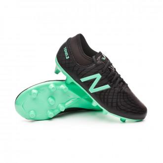 Bota  New Balance Tekela Magique FG/Hybrid Niño Black-Neon emerald