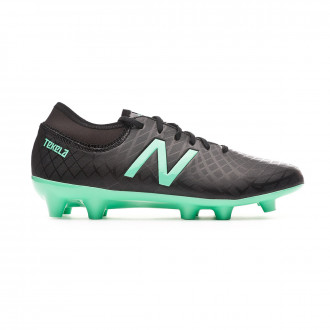 Football Boots  New Balance Kids Tekela Magique FG/Hybrid  Black-Neon emerald