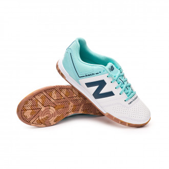 Futsal Boot  New Balance Audazo Strike 3.0 Futsal Niño White-Light blue