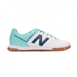 Zapatilla New Balance Audazo Strike 3.0 Futsal Niño White-Light blue