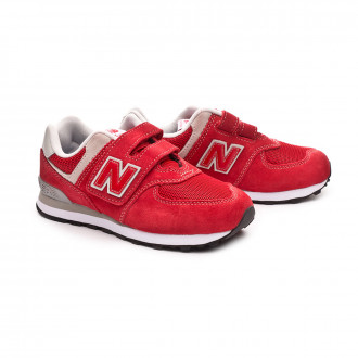 Zapatilla  New Balance 574 Velcro Niño Red-Grey