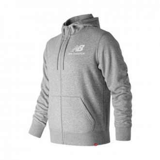 Chaqueta  New Balance Stacked Logo Essentials Grey