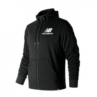 Chaqueta  New Balance Stacked Logo Essentials Black