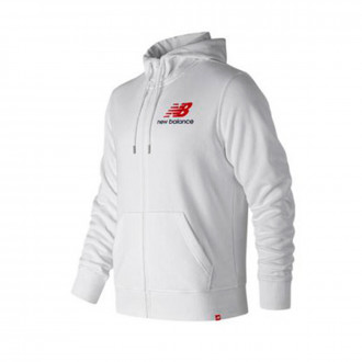 Chaqueta  New Balance Stacked Logo Essentials White