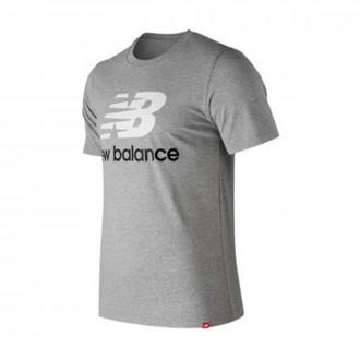 Camiseta  New Balance Stacked Logo Essentials Grey