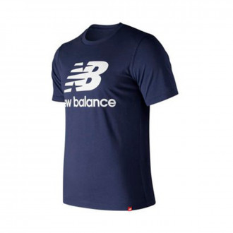 Camiseta  New Balance Stacked Logo Essentials Navy