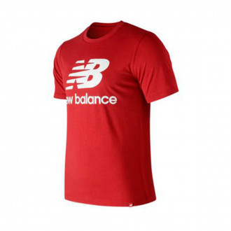 Camiseta  New Balance Stacked Logo Essentials Red