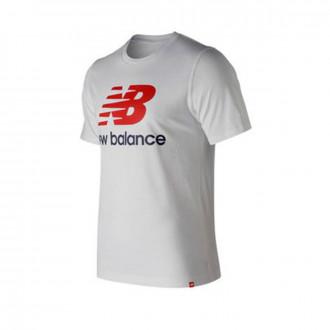 Camiseta  New Balance Stacked Logo Essentials White