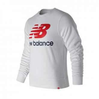 Sweatshirt  New Balance Sweatshirt Stacked Logo Essentials White