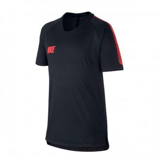 Camiseta  Nike Breathe Dri-FIT Squad Niño Black-Ember glow