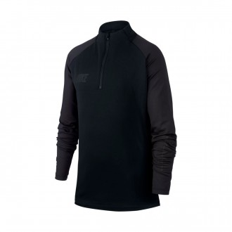 Sweatshirt  Nike Dri-FIT Squad Niño Black