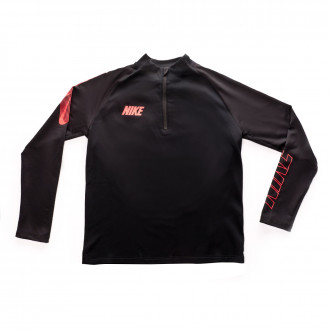 Sweatshirt  Nike Dri-FIT Squad Crianças Black-Ember glow