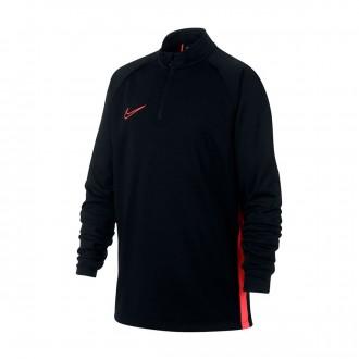 Sweatshirt  Nike Dry-FIT Academy Niño Black-Ember glow
