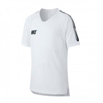 Camiseta  Nike Breathe Dri-FIT Squad Niño White-Black