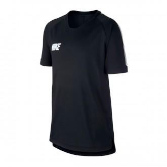 Camiseta  Nike Breathe Dri-FIT Squad Niño Black-White