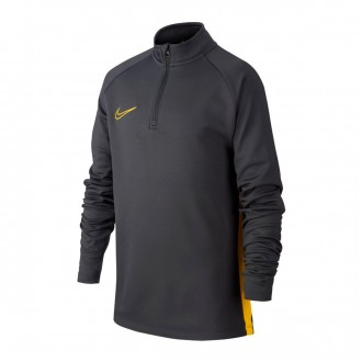 Sweatshirt  Nike Dry-FIT Academy Niño Anthracite-Optical yellow