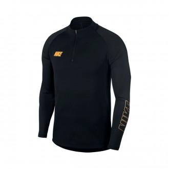 Camiseta  Nike Dri-FIT Squad Black-Metallic gold