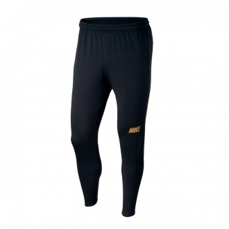 Tracksuit bottoms  Nike Dri-FIT Squad Black-Metallic gold