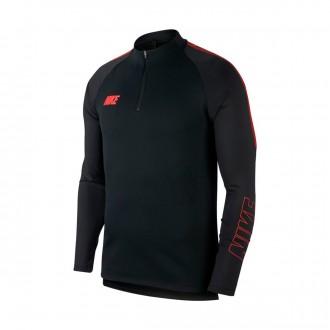 Sudadera  Nike Dri-FIT Squad Black-Ember glow