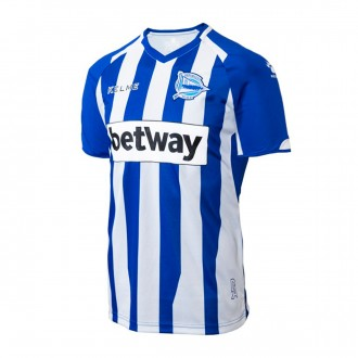 Camiseta  Kelme D. Alavés Primera Equipación 2018-2019 Azul-Blanco