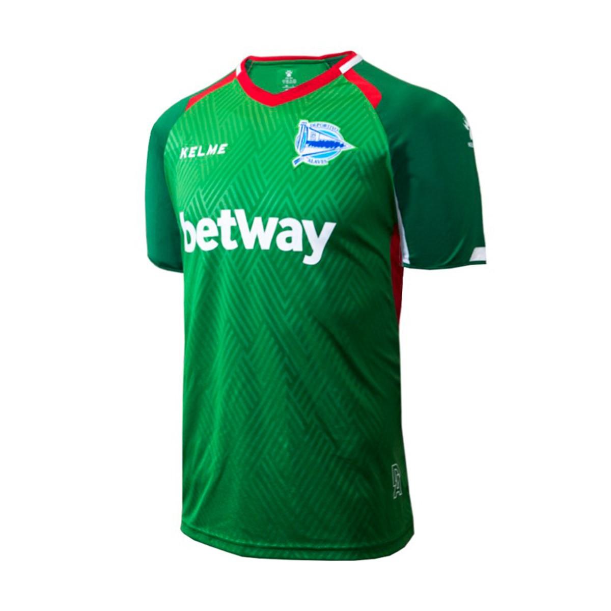 fa55a9a1e Maglia Kelme D. Alavés Away 2018-2019 Verde-Rosso - Negozio di calcio  Fútbol Emotion
