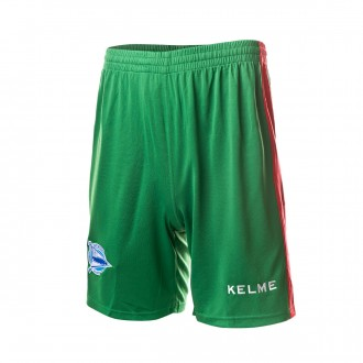 Shorts  Kelme D. Alavés 2018-2019 Away Green-Red