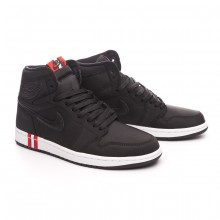 Trainers Air Jordan 1 Retro Hi OG Jordan x PSG Black-Challenge red-White