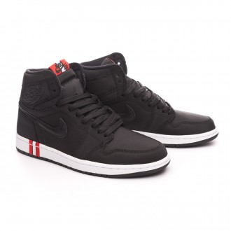 Sapatilha  Nike Air Jordan 1 Retro Hi OG Jordan x PSG Black-Challenge red-White