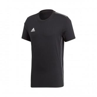 Camiseta  adidas Core 18 Tee m/c Black-White