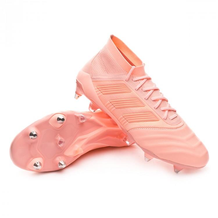 6e52e0a32 Football Boots adidas Predator 18.1 SG Leather Clear orange-Trace ...