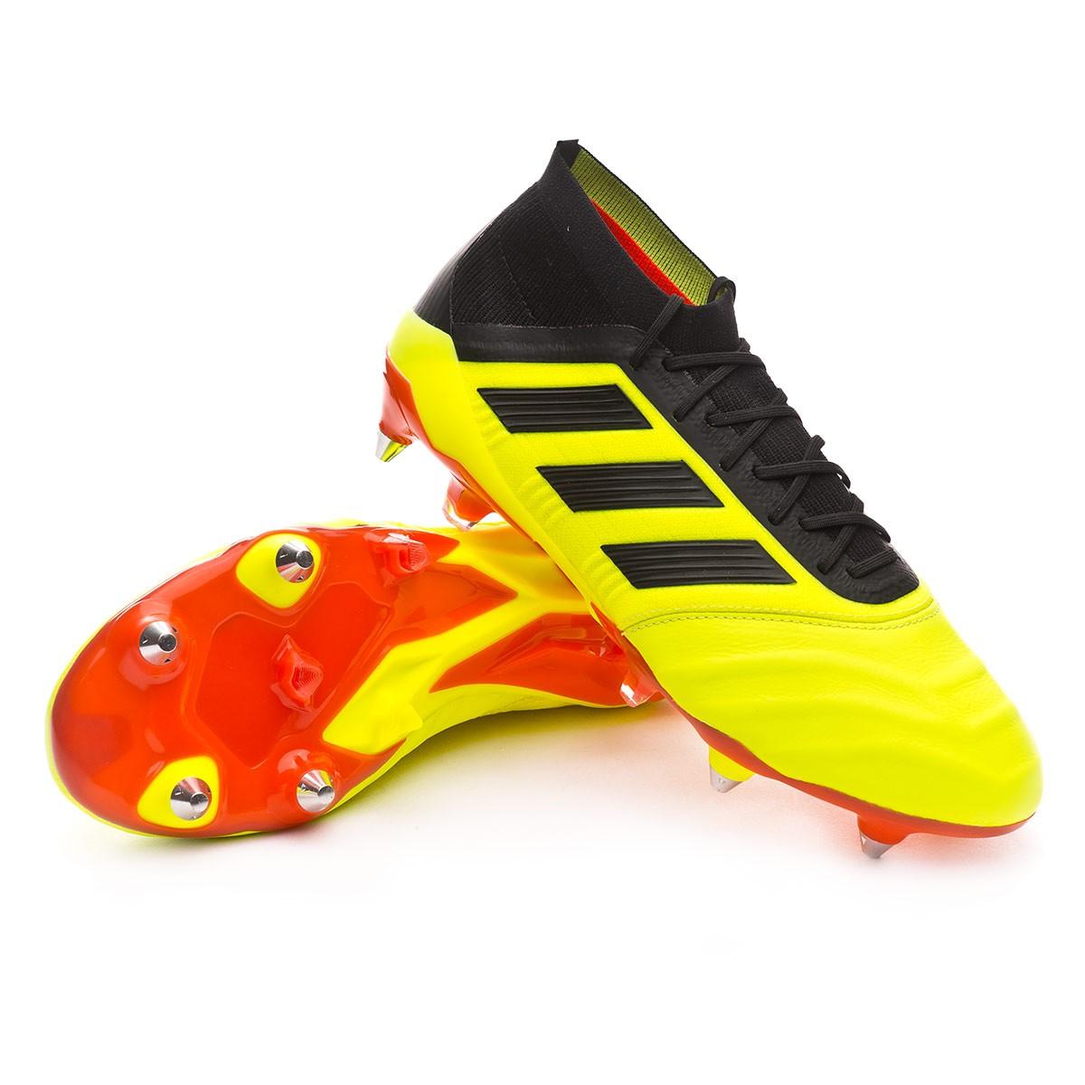 9c8a8347a Football Boots adidas Predator 18.1 SG Leather Solar yellow-Black-Solar red  - Football store Fútbol Emotion