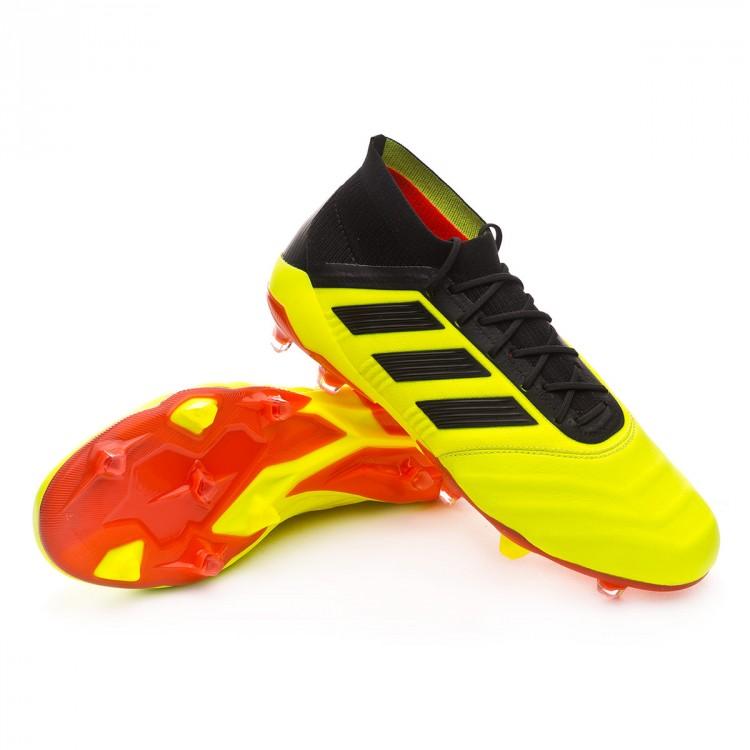 2ab43a8deb1f3 Chuteira adidas Predator 18.1 FG Piel Solar yellow-Black-Solar red ...