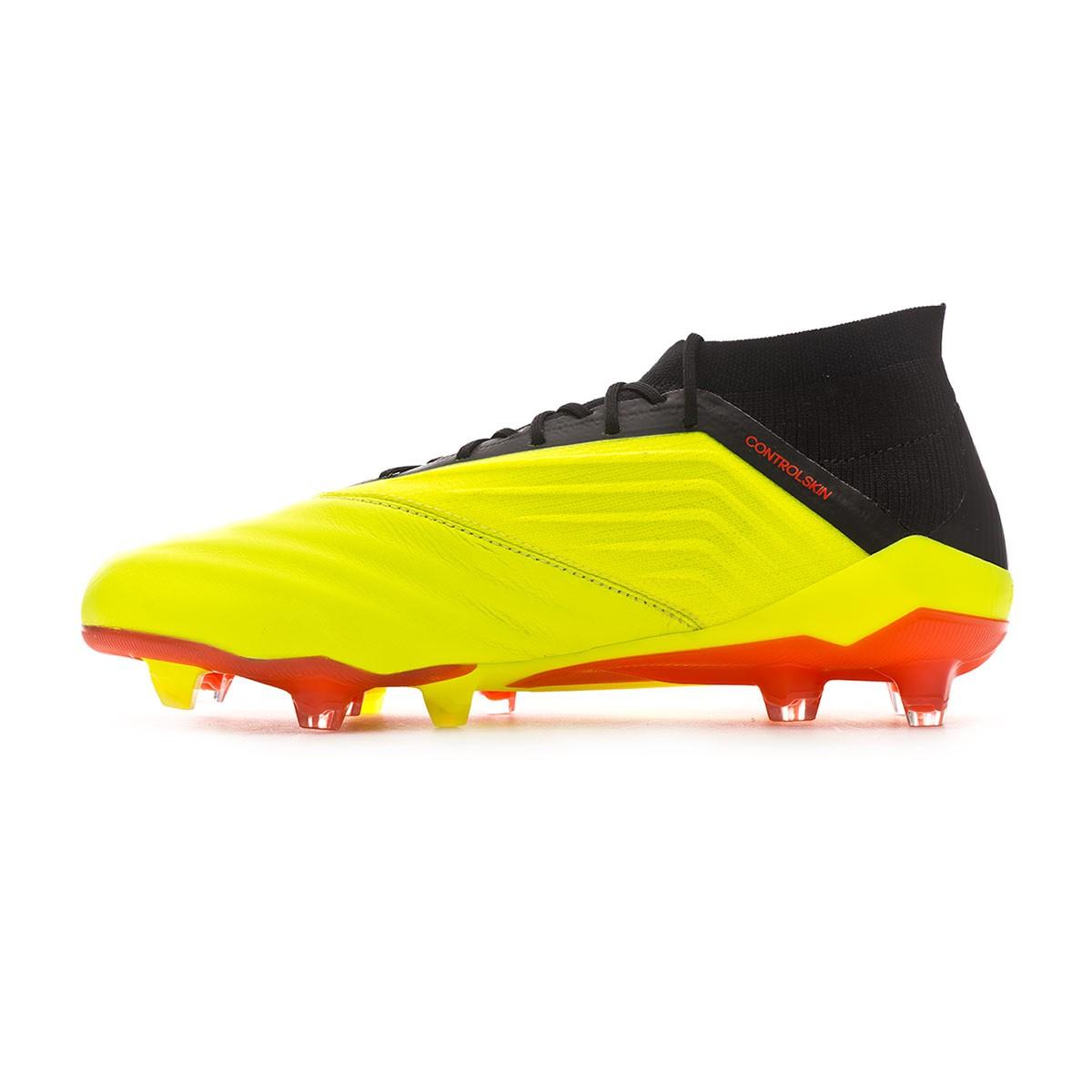 buy online e8739 911ba Bota de fútbol adidas Predator 18.1 FG Piel Solar yellow-Black-Solar red -  Soloporteros es ahora Fútbol Emotion