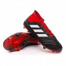Boot Predator 18.1 FG Leather Core black-White-Red