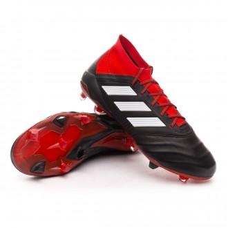 Bota  adidas Predator 18.1 FG Piel Core black-White-Red