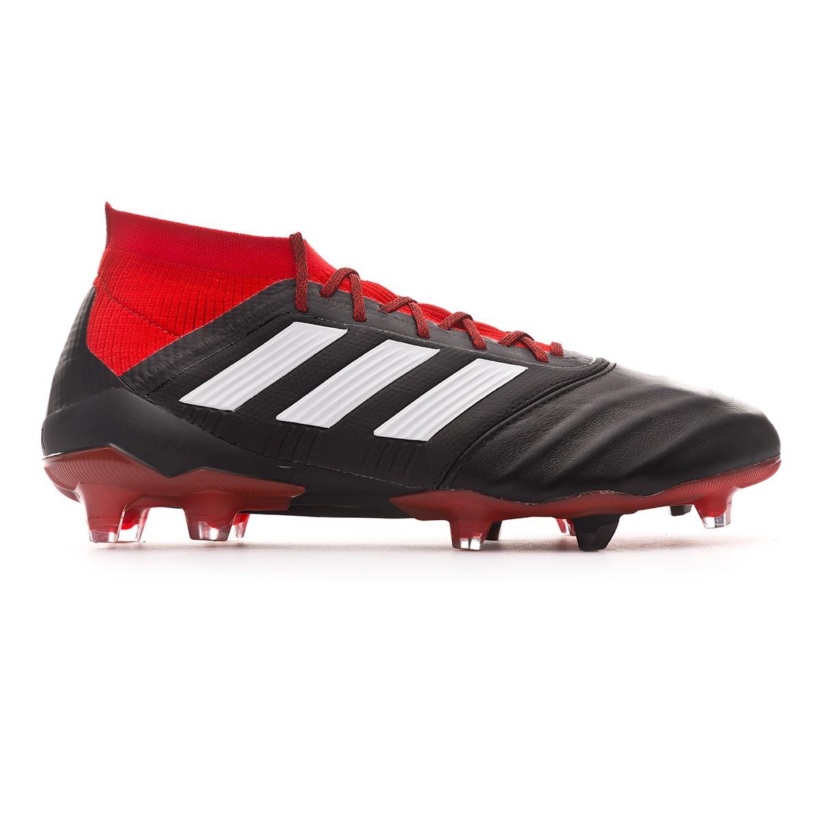 cf933aa9359 Football Boots adidas Predator 18.1 FG Leather Core black-White-Red -  Tienda de fútbol Fútbol Emotion