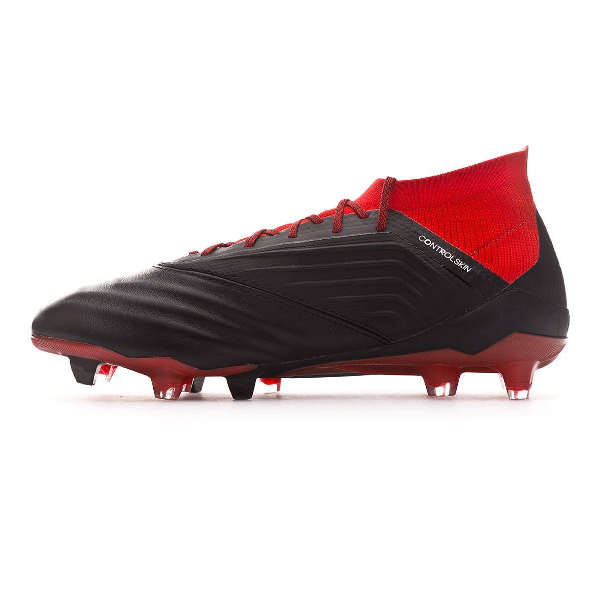 9adf24c63fea1 Zapatos de fútbol adidas Predator 18.1 FG Piel Core black-White-Red -  Tienda de fútbol Fútbol Emotion