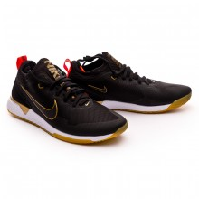 Zapatilla Nike F.C. Black-Bright crimson-Metallic gold