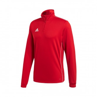 Sweatshirt  adidas Core 18 Training Power red-White