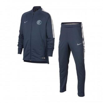Tracksuit  Nike Kids Inter Milan Squad 2018-2019  Thunder blue-Vast grey